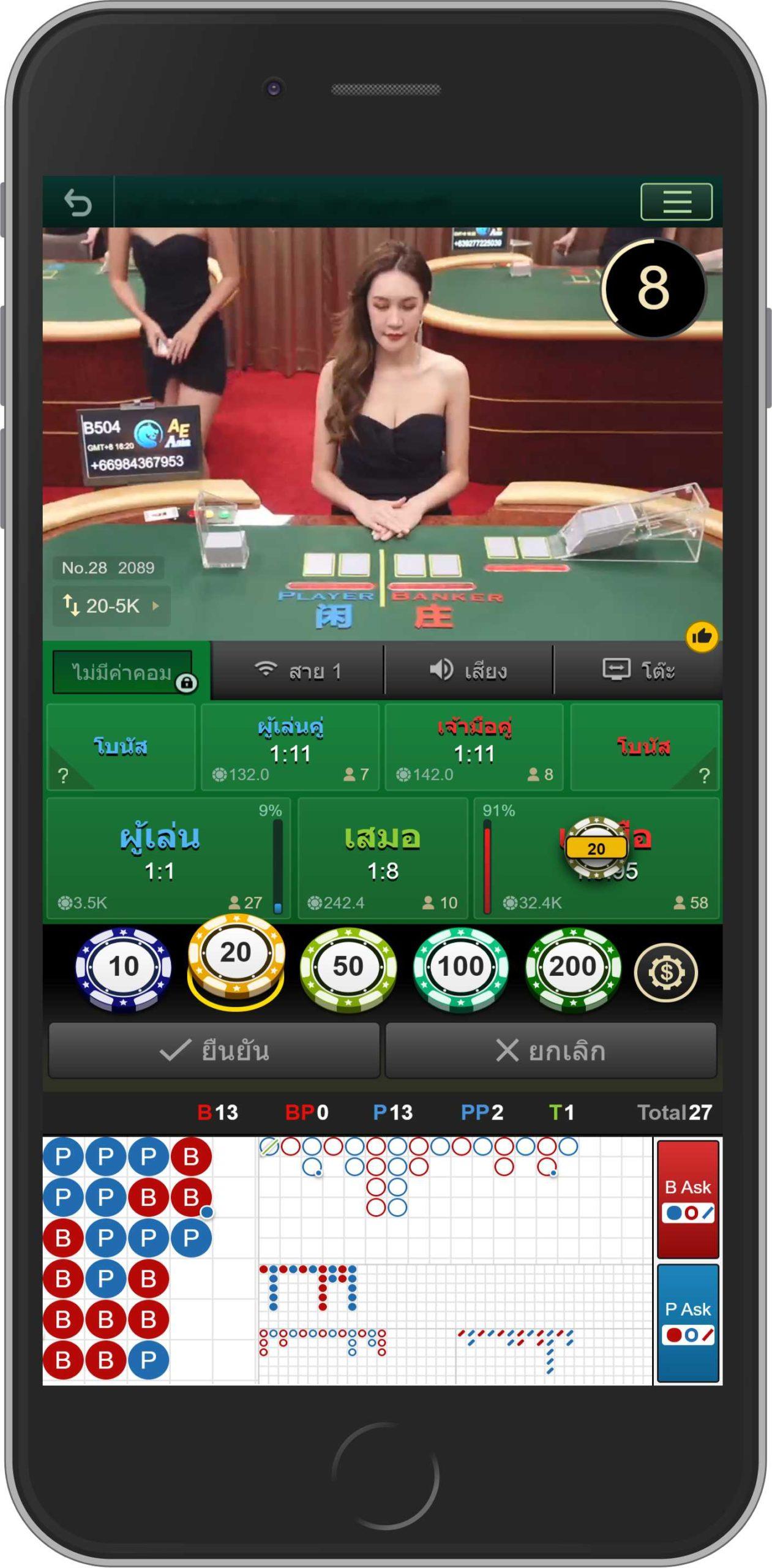 เซ็กซี่บาคาร่าบน Sexy Gaming