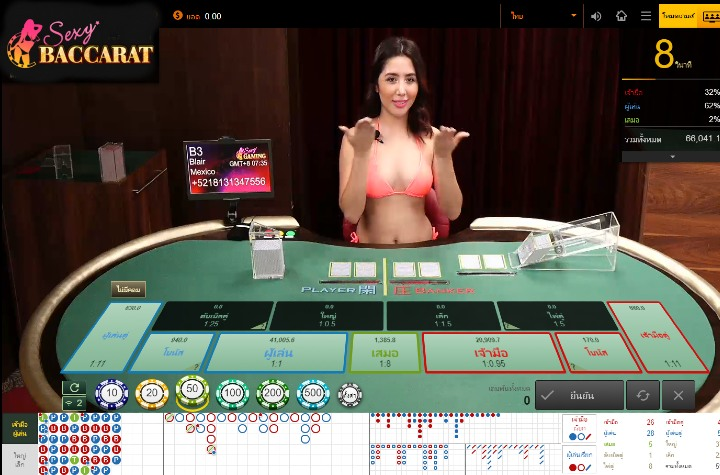 Baccarat online เกมบาคาร่าสดจาก Sexy Gaming